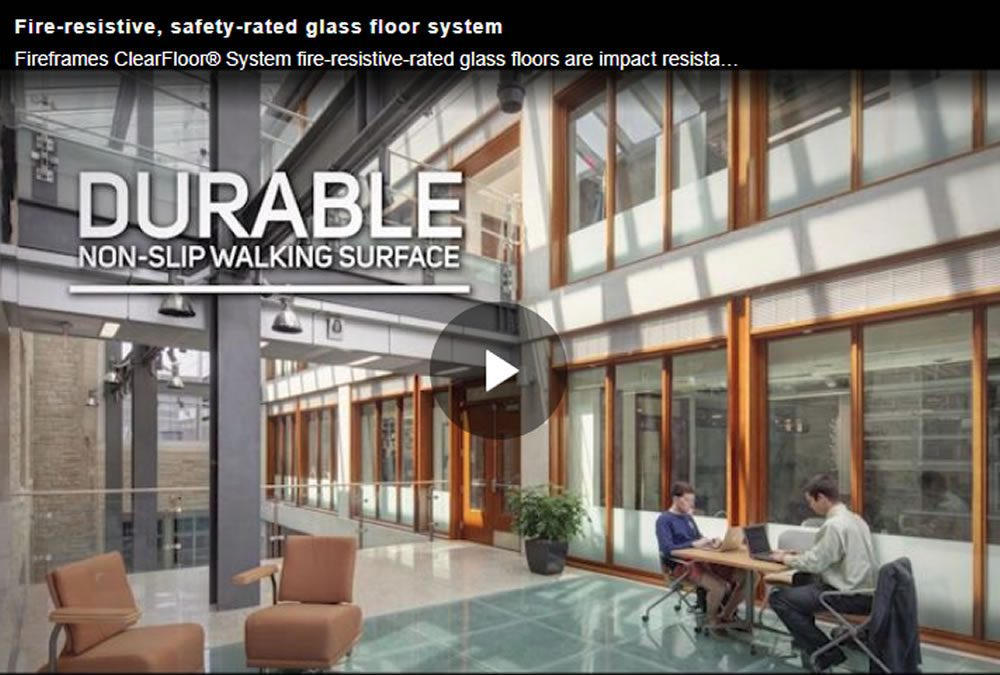 """Glass Floor"" Technology is also Fire Resistant"
